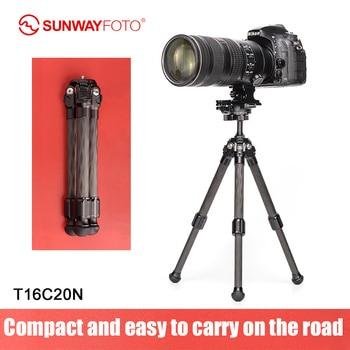 SUNWAYFOTO T16 20NLight Small Mini Carbon Fiber Dslr Camera Stand Professional Carbon Tripod For Phone Camera Accessories Video