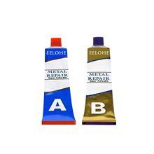 Gel adhesivo resistente al calor, pasta de reparación de metales en frío para grietas, pegamento de secado rápido, 2 uds., # PY10
