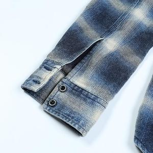 Image 5 - SIMWOOD 2020 spring Winter New Double Chest Pockets Plaid Shirts Men Indigo Shirt 100% Cotton Plus Size Clothes 190472