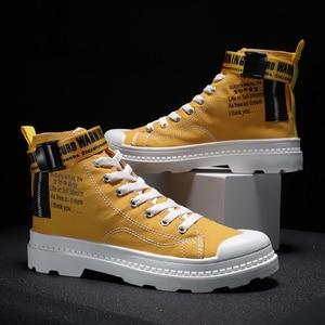 Image 4 - BIGFIRSE 남성 캐주얼 신발 높은 탑 편안한 남성 패션 신발 비 슬립 남성 스니커즈 야외 레저 신발 Zapatillas Hombre