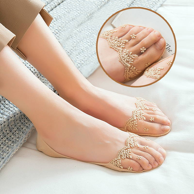 New Transparent Short Lace Socks Women Summer Hollow Out Boat Socks Slippers Female Soft Low Invisible Socks Ped 2019 3 Pairs