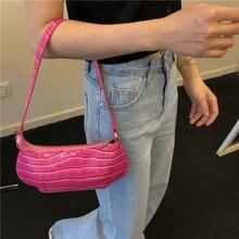 Маленькая женская сумочка Багет из лакированной кожи винтажный