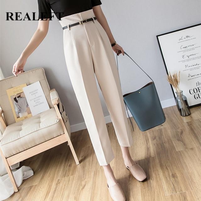 Formal Harem Pants with Belt 1