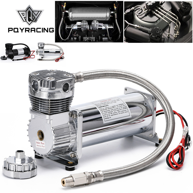 Universal DC 12V 480c MAXPOWER 200 PSI OUTLET 3/8 or 1/4 car Air Suspension Compressor/ Pump PQY VAC01