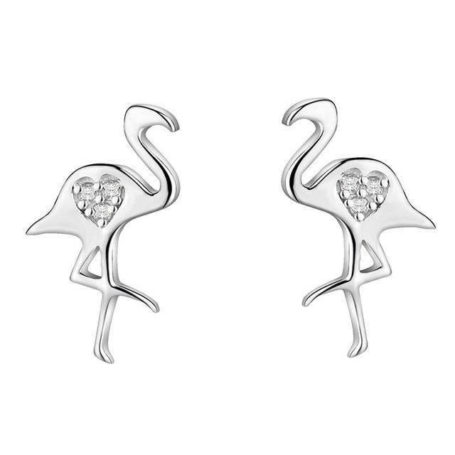 YOROMER 925 sterling silver earrings zirconia small animal stud earrings women simple earring fashion Jewelry girls white