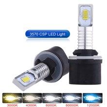 2 шт., Автомобильные светодиодные лампы H8 H11 HB4 HB3 H27 Led 880 881 H4 PSX26W H7 H16 5202 12000LM 6000K