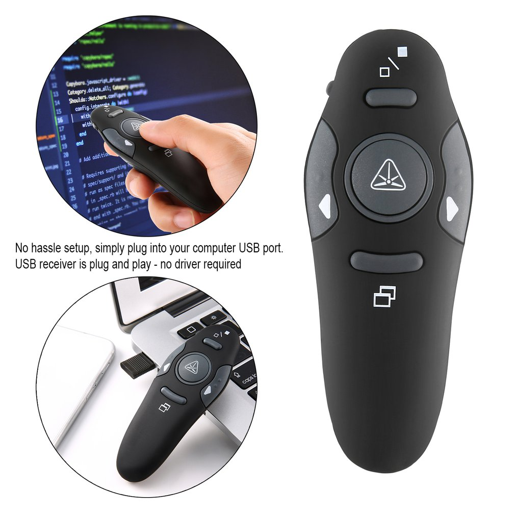 Presenter With Ppt Pointer Remote Control PPT Powerpoint Presentation Remote Wireless Presenter On Power Pointer