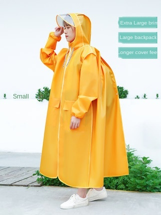 Long Transparent Raincoat Electric Motorcycle Raincoat Adult Long Coat Women Thickening Increase Rain Poncho Coat Hiking Gift 1