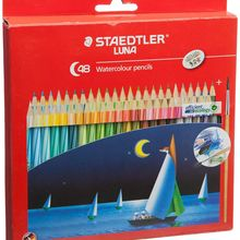 Staedtler Watercolor Pencils Set of 12/24/36/48 Colorful Drawing Pencils With Brush