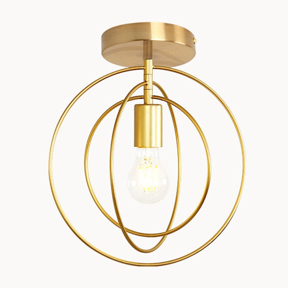 Antirouille salle de bain étoiles et cercles fer salon économie d'énergie décor à la maison cadeau facile installer coeur forme lumineuse plafonnier