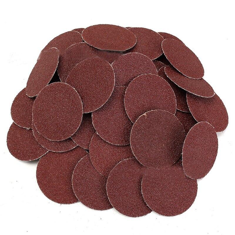 50Pcs 120 Grit 2 Inch Roloc Roll Lock Sanding Grinding Discs For Polishing Abrasive
