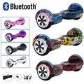 Электрический скутер 6 5 дюймов Ховерборд самобалансирующаяся доска два колеса скейтборд для детей 700 Вт светодиодный Bluetooth + пульт дистанци...