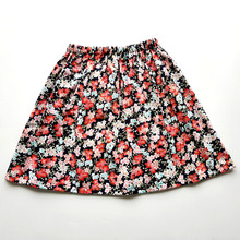 Kids Girl Skirt Flower Baby Children A-Line Black Princess Cotton Fashion Golden Summer
