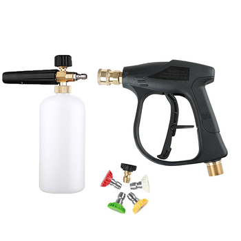 For Car Washer Water Gun Cleaning Tools,with5Color Nozzles M22 Hose Connector ,1L Car Washer Jet Adjustable Snow Foam Lance 1/4