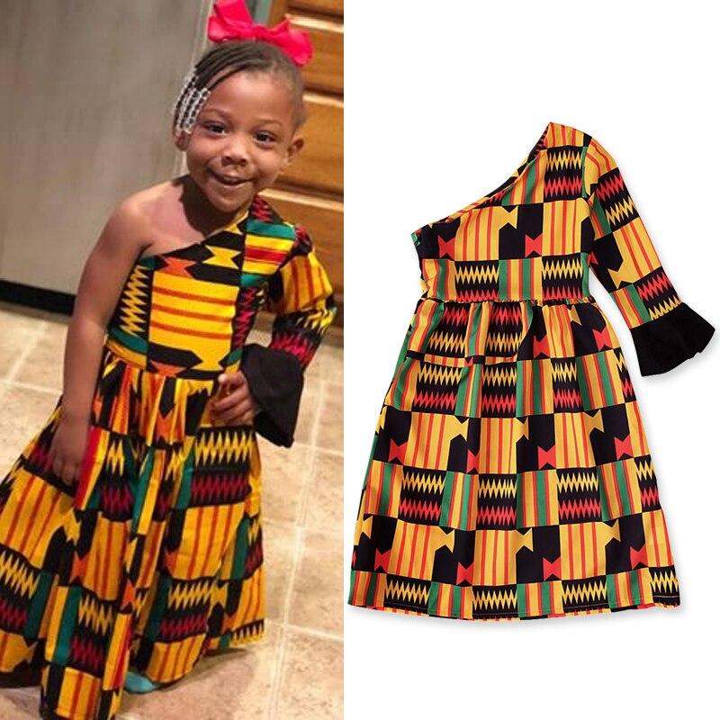 kids African dress denim jean Baby African Dress kente dress newborn dress