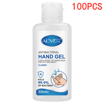 100PCS 50ml Hand Sanitizer Gel Antibacterial Hand Gel Disinfection Quick-dry Portable Natural Hand Care Hand Sanitiser No Wash
