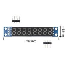 10 pièces/lot MAX7219 Module de led 8 chiffres 7 segments Tube de affichage led numérique MCU 100% nouveau original
