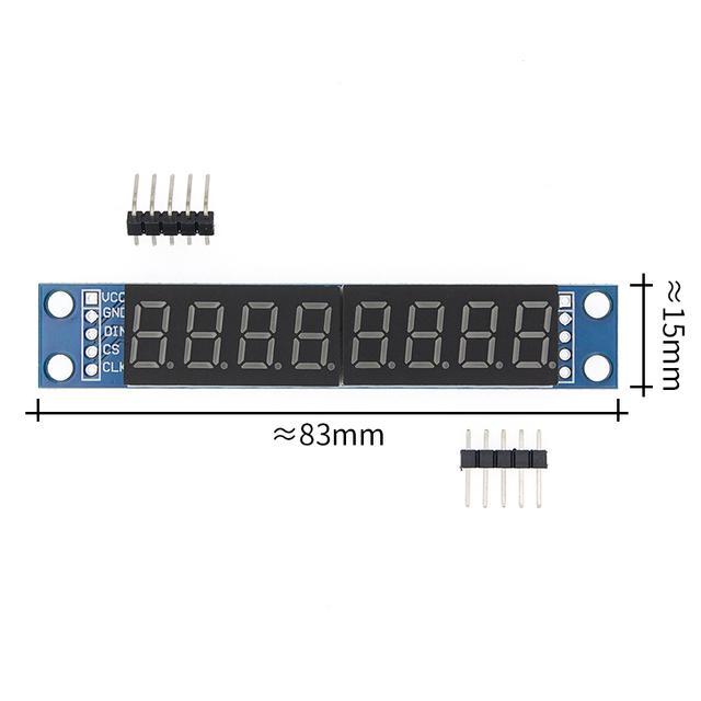 10PCS/LOT MAX7219 Led Module 8 Digit 7 Segment Digital LED Display Tube MCU 100% new original