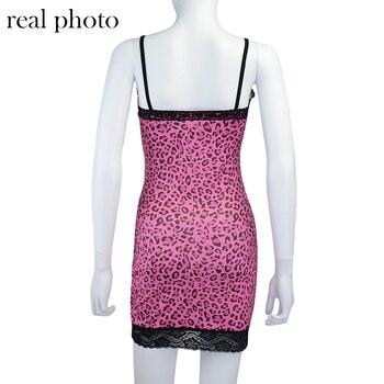 ALLNeon Y2K/Вечерние платья на бретельках с кружевной отделкой и леопардовым принтом мини-платье трапециевидной формы на бретельках с v-образным вырезом и кружевной каймой для девочек 5