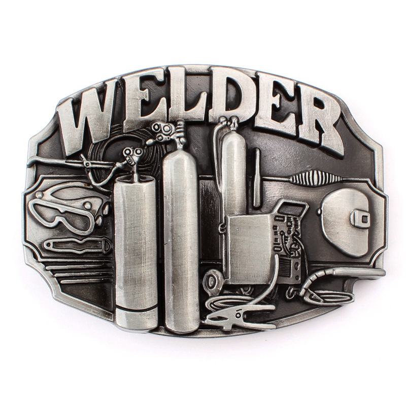Plumber Welder Belt Buckle Belt DIY Component Handmade Homemade Waistband Accessories