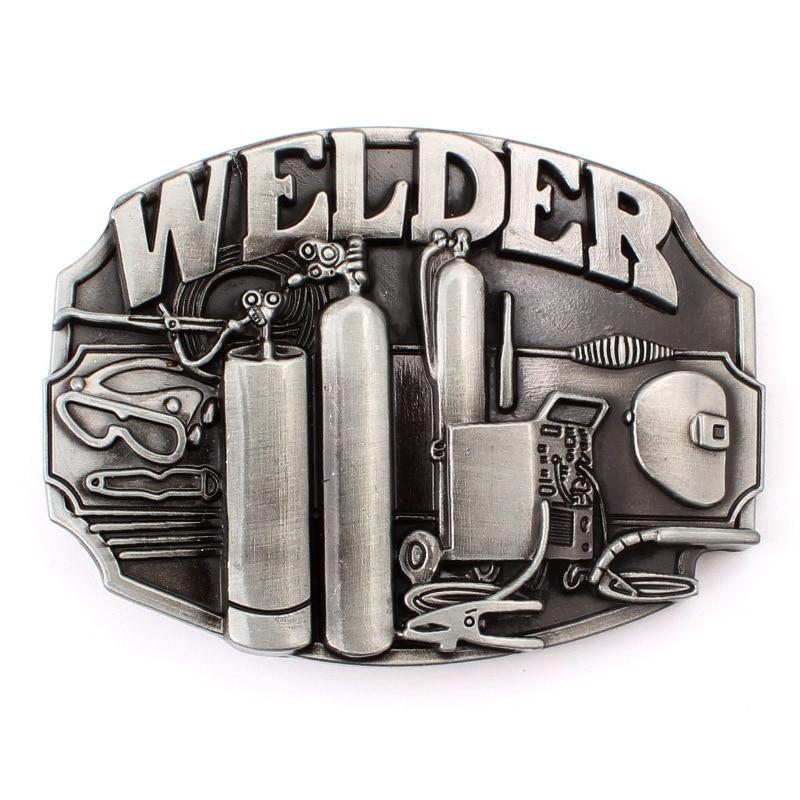 Plumber Welder belt buckle belt DIY component Handmade homemade waistband Accessories
