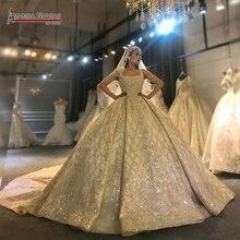 Аманда новиас дизайн реальные фотографии работы свадебное платье потрясающее полное платье невесты с отделкой бисером 2020