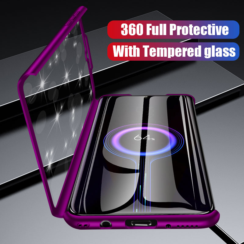 360 Full Protective Phone Case For Xiaomi Redmi Note 8 7 6 5 K20 Pro Case For Redmi 5A 6A 7 5 Plus 7A Case With Screen Protector