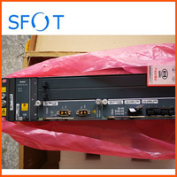 Brand new original GPON an5516 04 OLT with PWRD DC power + 1* HSUA board 1GE uplink board, with 2pcs modules.
