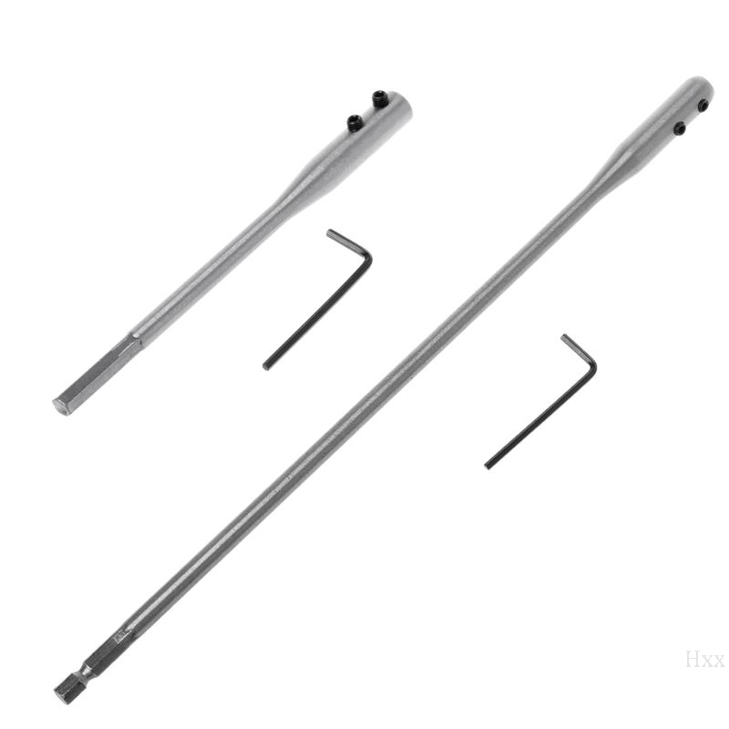OOTDTY 150/300mm Fit For Flat Drill Bit Deep Hole Shaft Hex Extention Holder Connect Rod Tools