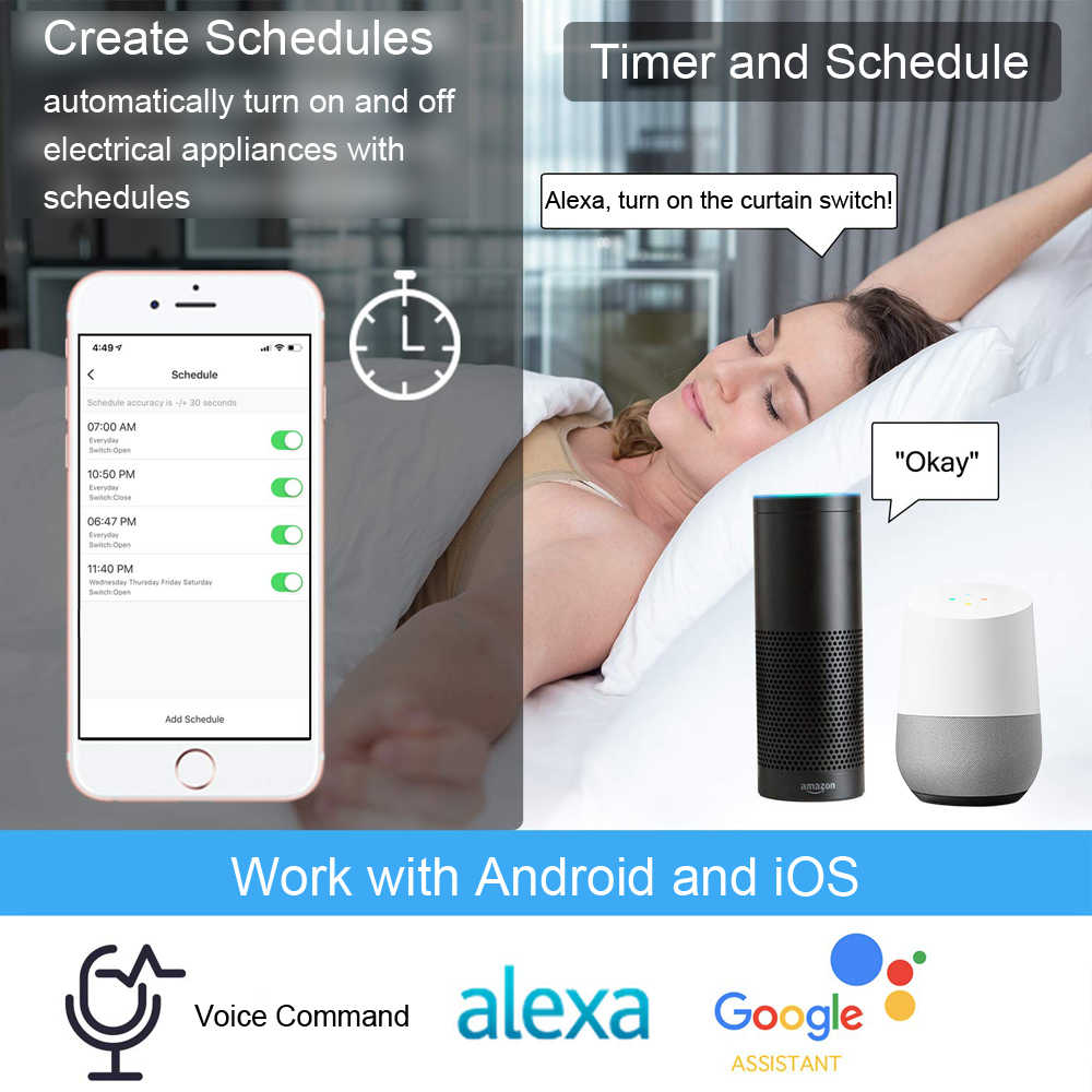 Tuya Smart Life RF WiFi занавес переключатель Gewiss с пультом дистанционного управления для электрического моторизованного рольставни Google Home Aelxa DIY умный дом