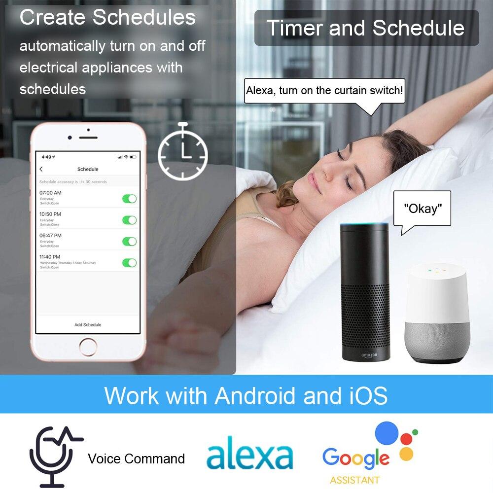 Image 3 - Tuya Smart Life ЕС Wi Fi Ролик затвора занавес переключатель для электрических жалюзи с электроприводом с дистанционным управлением беспроводной переключатель Google Home Alexa Echo Голосовое управление-in Автоматическая система управления занавесом from Товары для дома