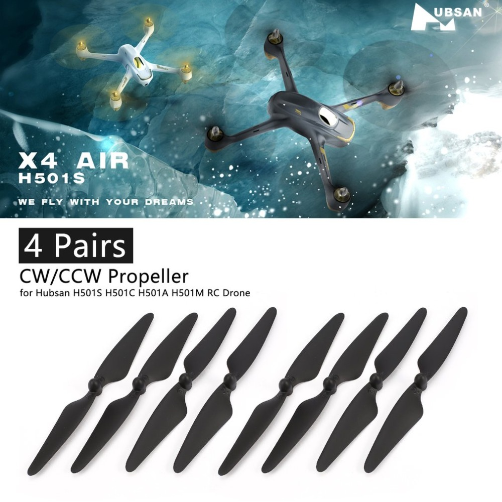 4 Pairs CW/CCW Propeller Props Blade RC Spare Part for <font><b>Hubsan</b></font> H501S H501C <font><b>H501A</b></font> H501M 501 RC Quadcopter RC Drone Aircraft image