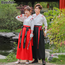 Han dinastia tradicional folclórica hanfu vestido antigo casal cp trajes de dança tang dinastia adulto espadachim robe traje de halloween