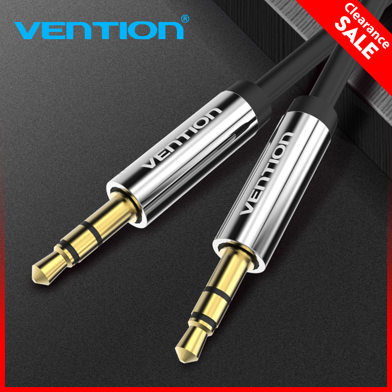 Vention Aux Cable 3.5mm Jack Male To Male Audio Cable 2m 3m 5m Jack 3.5 Cable For Car Speaker For IPhone Samsung Xiaomi Aux Cord