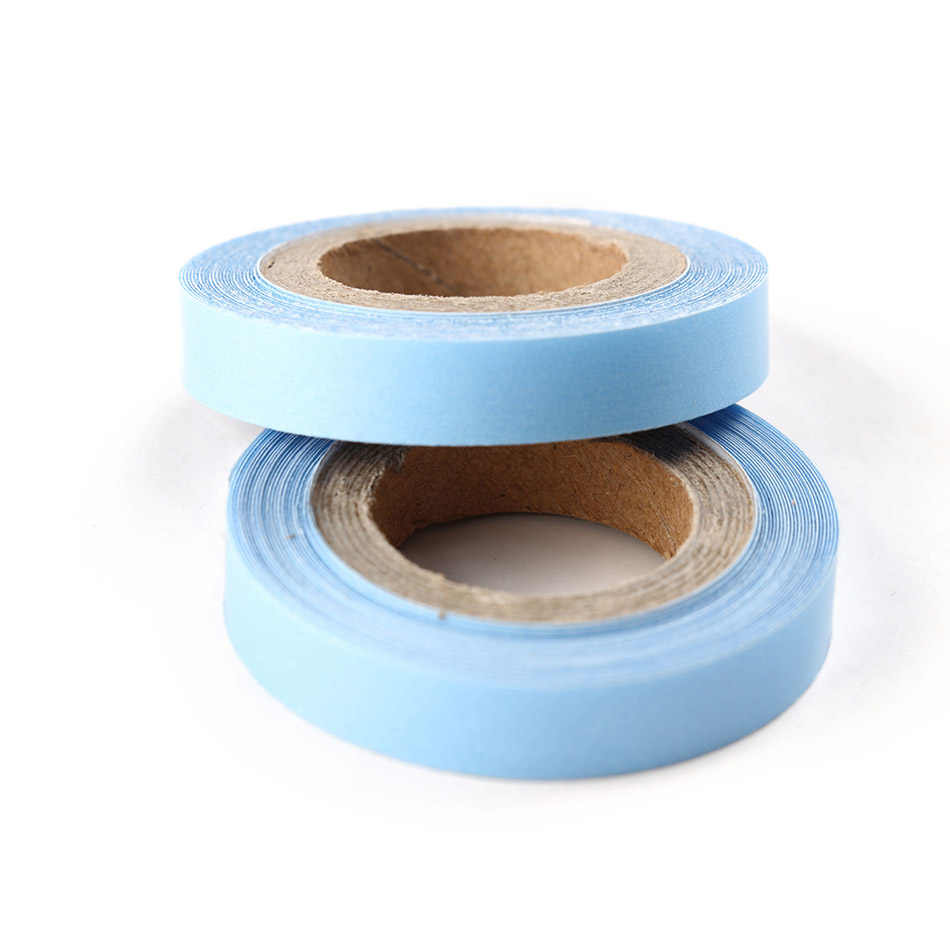 2 Rolls Lace Front Haar Systeem ONS Tape Dubbelzijdig Plakband Voor Hair Extensions/Pruiken/Toupetje Blauw kleur 0.85cmx3Yards