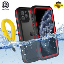 Shellbox Waterproof Case for iPhone 11 Pro Max Shockproof Silicone Cover for iPhone 12 Pro 360 Full Cover for iPhone XR XS Max