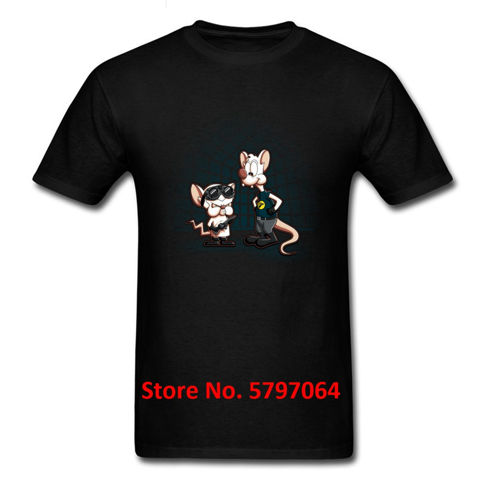 Funny T-Shirt What Do You Want To Do Tonight Tshirt For Men Funky Mice Summer/Autumn 100% Cotton Crew Neck T Shirt Game image