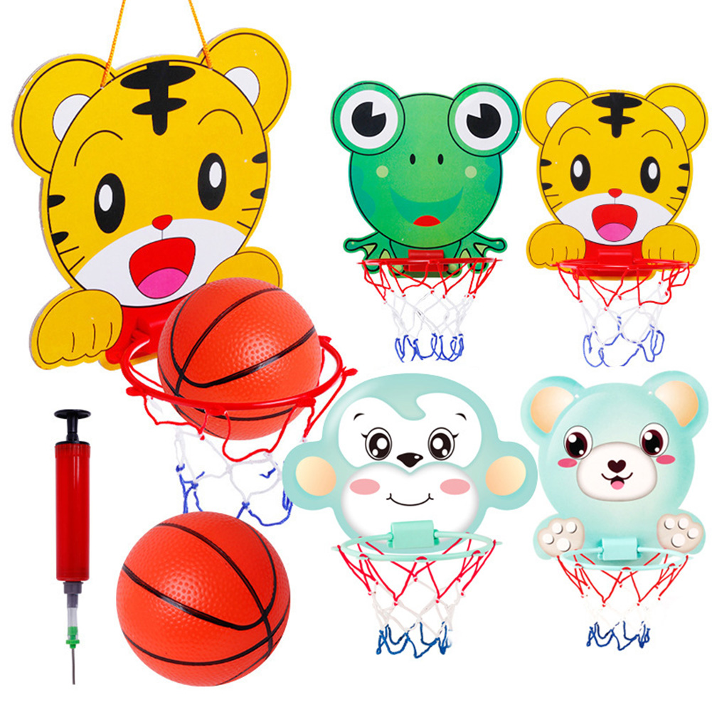 Basketball Hook Easy Carry Suspension Design Kids Office Cartoon Pattern Wall Lift Style Portable Home Play Mini Bedroom Toy
