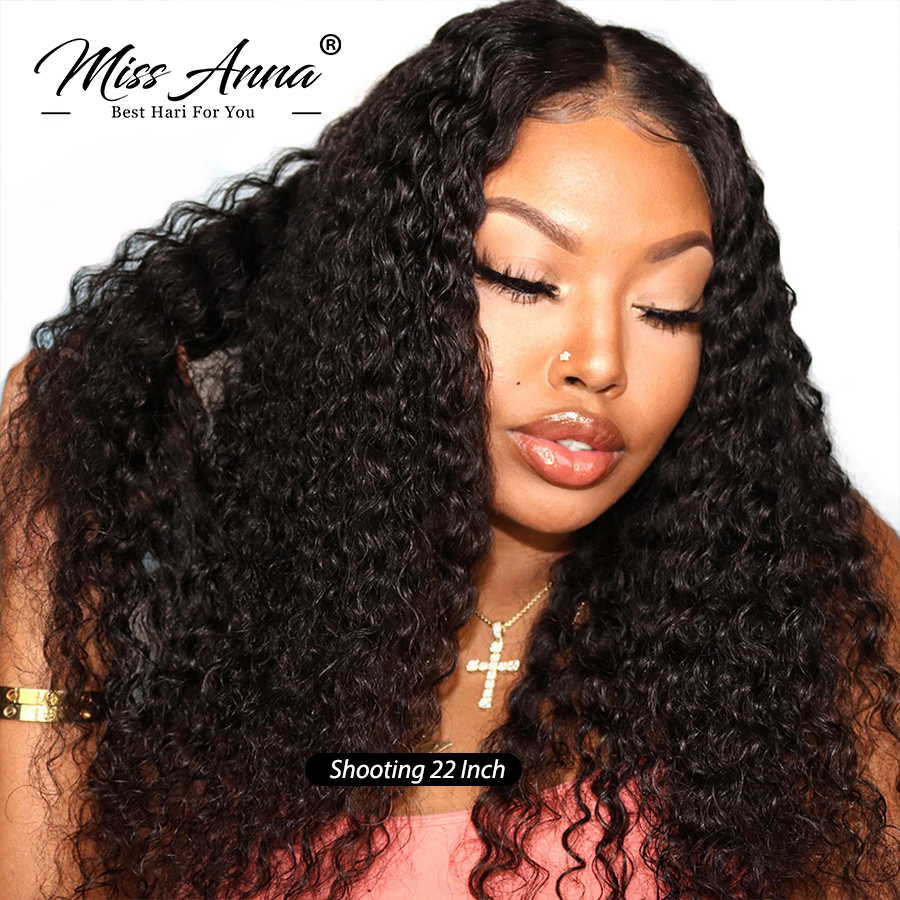MIssAnna Brazilian Jerry Curly Lace Front Human Hair Wigs For Black Woman Short Hair Bob Curly Pre-Plucked Bleached Knots