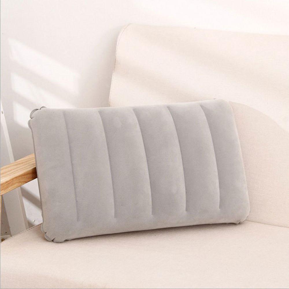 Portable Ultralight Inflatable PVC Flocking Air Pillow Sleep Cushion Travel Bedroom Hiking Beach Car Plane Head Rest Support