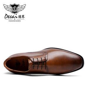 Image 2 - DESAI أحذية الصيف الرسمية حقيقية التنفيذي جلد أكسفورد أحذية للرجال السود 2020 فستان الزفاف الأحذية