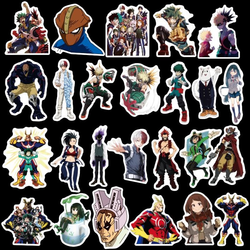 50Pcs My Hero Academy 2020 Stickers Decal for Snowboard Laptop Luggage Car Fridge DIY Styling Vinyl Home Decor Pegatina