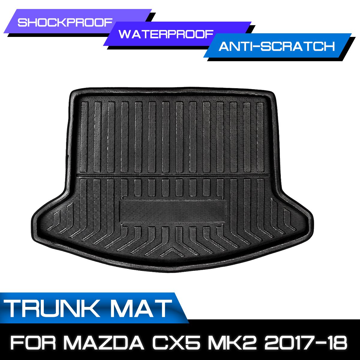 Rear Trunk Cargo Boot Liner For Mazda CX-5 CX5 MK2 2017 2018 Car Styling Interior Accessories Waterproof Mat Shockproof