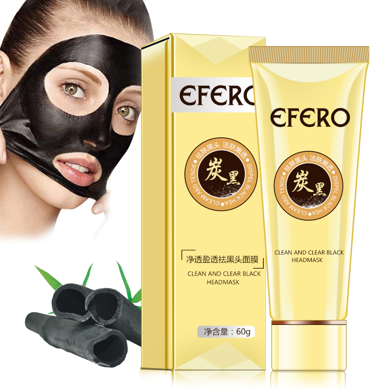 Efero Suction Black Mask For The Face Mask Blackhead Remover Ance Treatment Pore Strip Black Head Mask Nose Strips Peel Off Mask