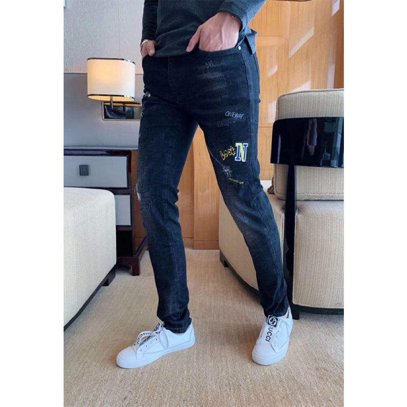 Starbags Pp 2020 Embroidered Jeans For Men's Chinese Style Fashion Slim Stretch Pants Individual New Autumn Printing