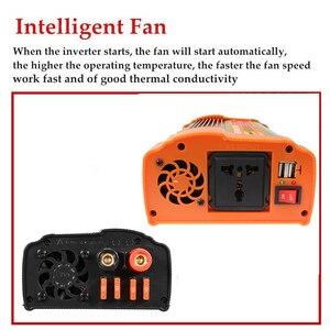 Image 2 - Inversor de 12V, 220V, 12000W máximo, 6000W, transformador de voltaje de onda sinusoidal modificada automática, convertidor inversor de energía Solar, carga USB para coche