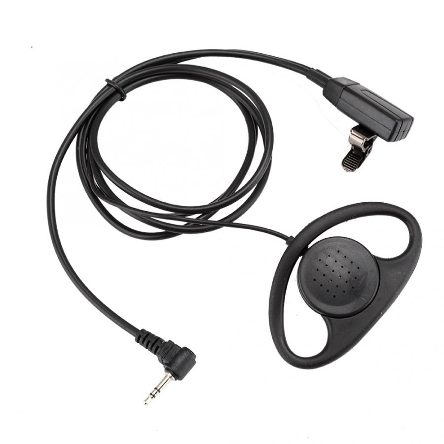 Vertex Battery For Walkie Talkies 2 Pcs 1 Pin D Shape Earpiece With PTT Mic Headset For Motorola 2 Way Radios Walkie Talkie