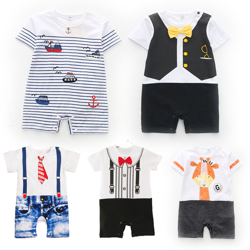 Girl Clothing Rompers Short-Sleeve Powered Giraffe Newborn Infant Baby Summer-Style 3-6-9-12-18-Months