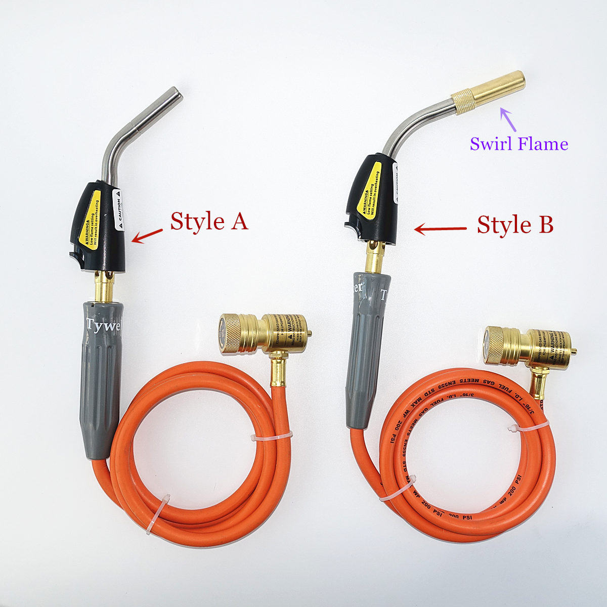 Braze Welding Torch Self Ignition 1 5m hose CGA600 connection Gas Torch Hand Propane MAPP Torch