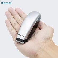 Kemei бритва, электрический триммер для бороды, портативная мини машинка для стрижки волос, Мужская бритва с 3 гребнями, борода, Парикмахерская бритва